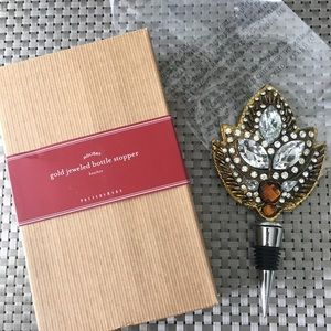 NWT Gold Jeweled Bottle Stopper Rhinestones